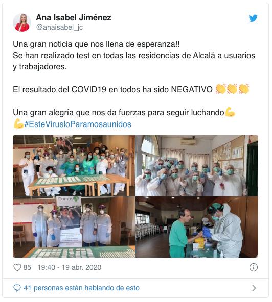 Las residencias de mayores de Alcalá están libres de coronavirus 1