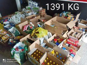 El Grupo Joven Virgen de Gracia recoge más de 2500 kilos de alimentos 1