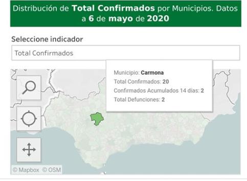 Nuevo caso de coronavirus en Carmona 1