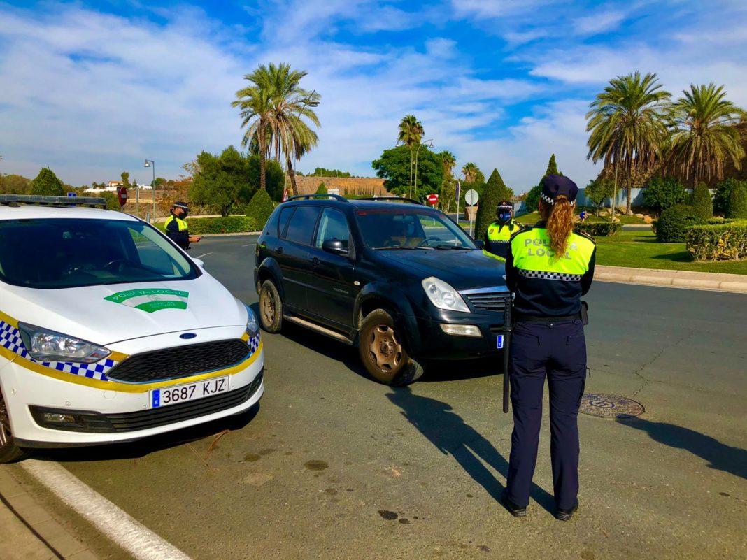Controles policiales en Alcalá de Guadaíra
