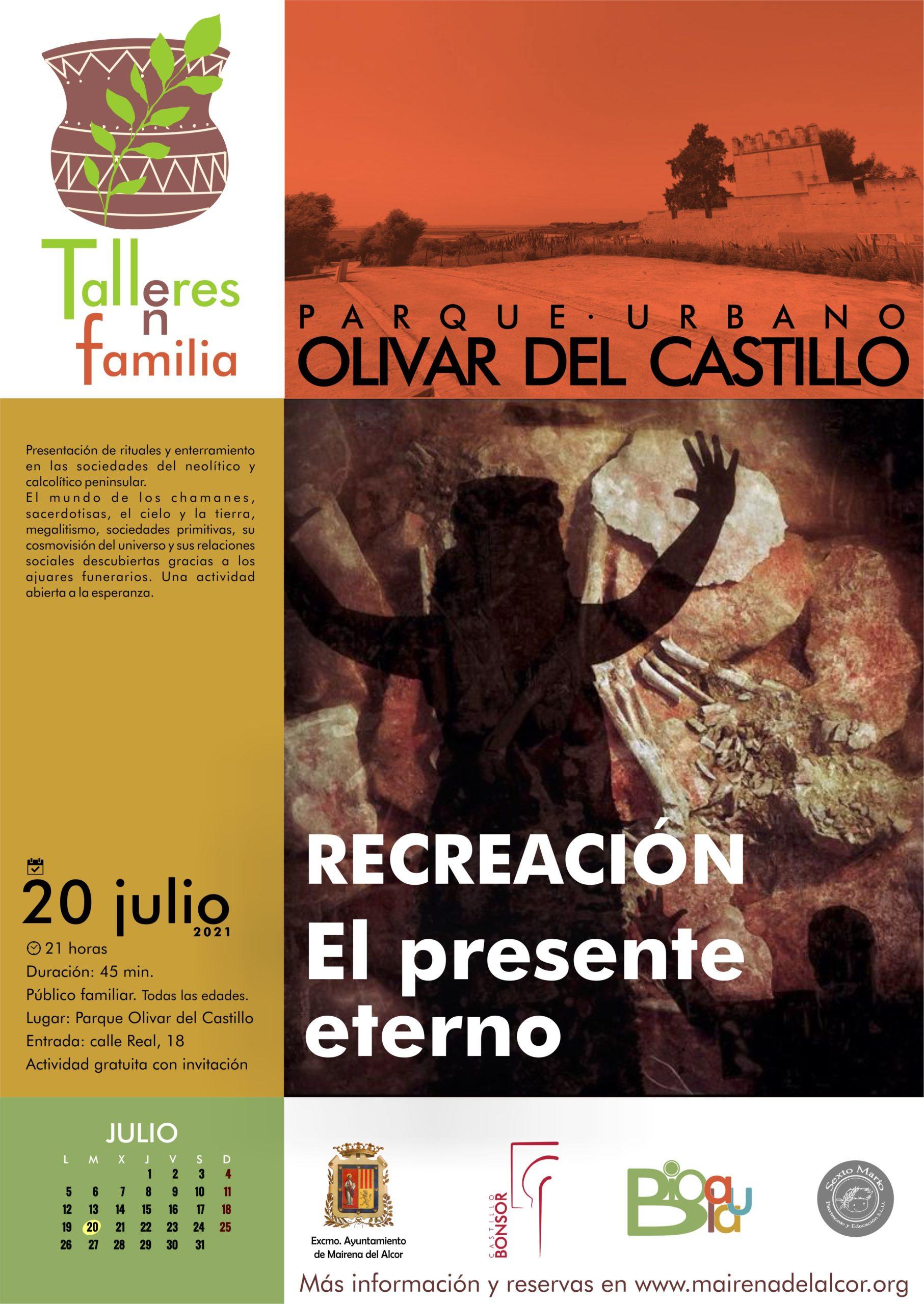 Reserva de invitaciones para el taller en el parque del olivar del Castillo